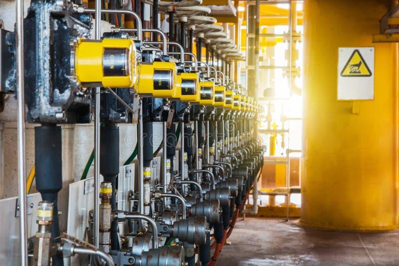 Regelventil im Öl- und Gasprozeß, stockbilder