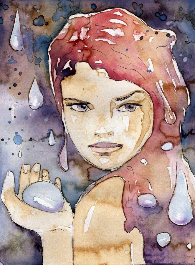 Regen. royalty-vrije illustratie