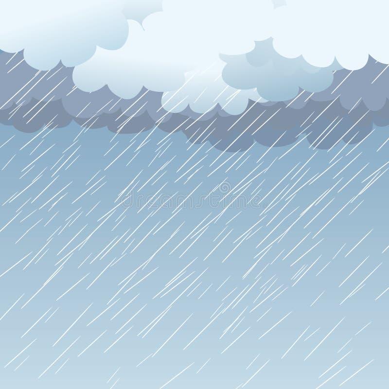 Regen als achtergrond, royalty-vrije illustratie