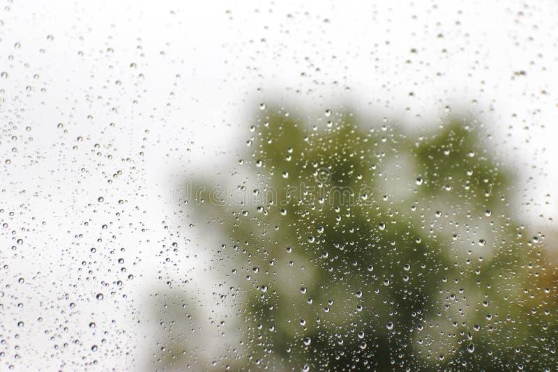 Regen auf Glas lizenzfreie stockbilder