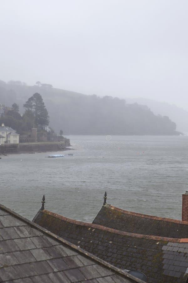 Regen in Dartmouth royalty-vrije stock afbeeldingen