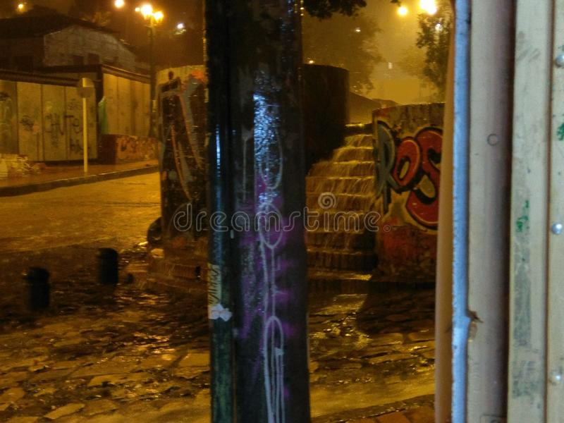 Regen in der Nacht stockfoto