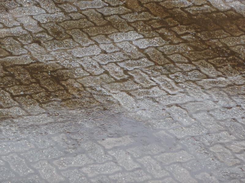 regen die op de vloer wordt geaccumuleerd royalty-vrije stock afbeelding