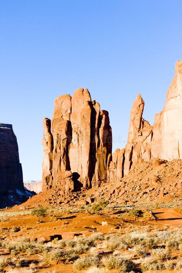 Regen-Gott-MESA, Monument-Tal-Nationalpark, Utah-Arizona, USA lizenzfreies stockbild