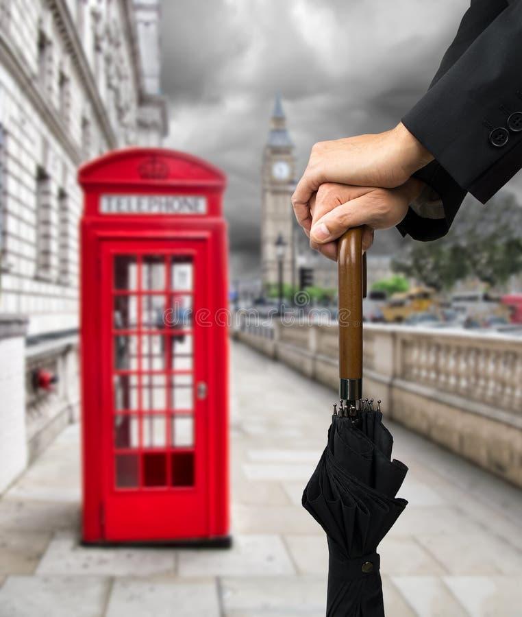 Regen in Londen royalty-vrije stock foto's