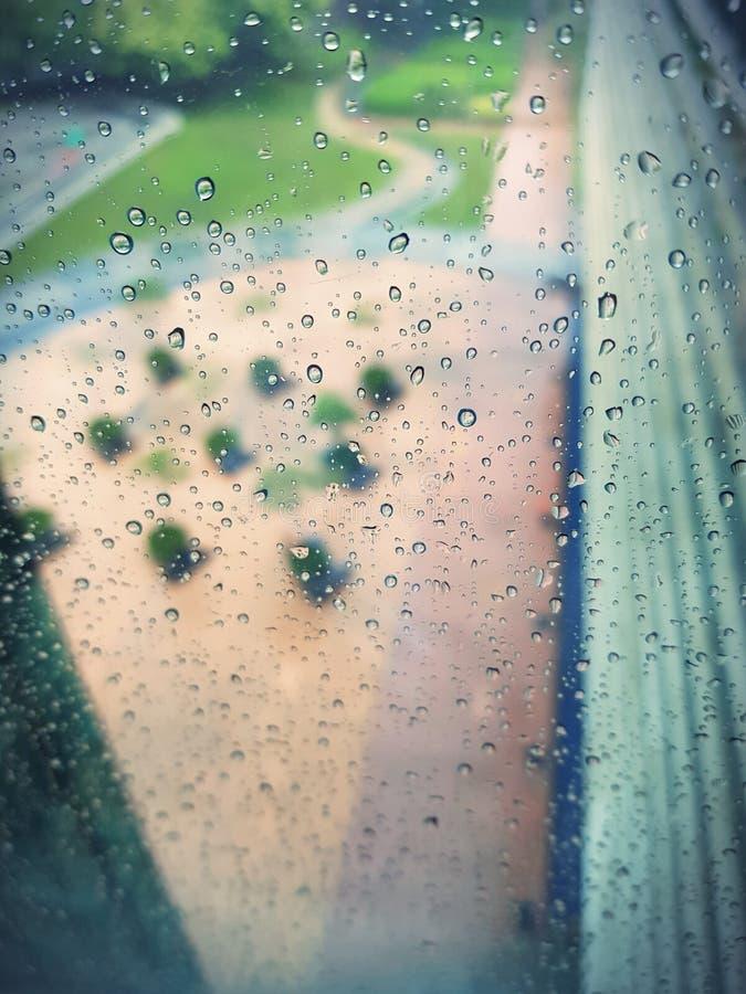 Regen oder Risse? stockfotografie