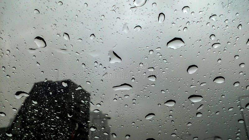 Regen op de straat, royalty-vrije stock foto