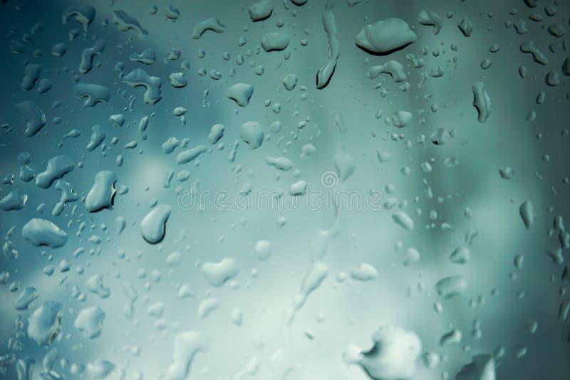 Regen op Glas royalty-vrije stock foto's