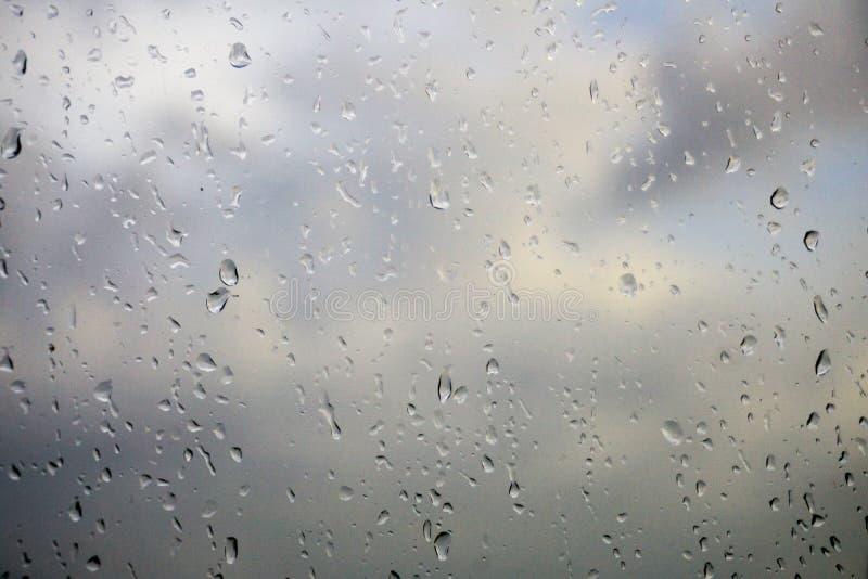 Regen op Glas royalty-vrije stock afbeeldingen