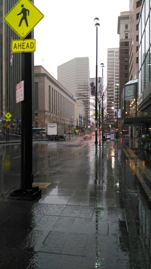Regen op vijfde royalty-vrije stock afbeeldingen