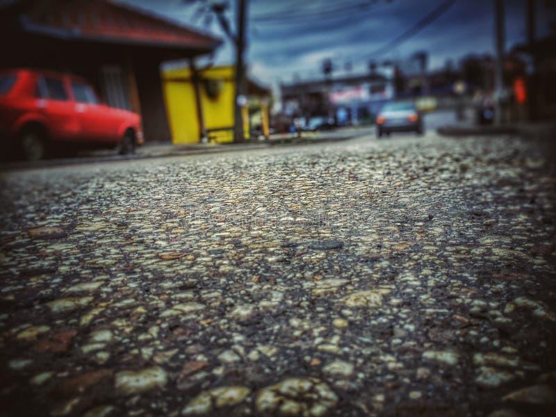 Regen-Straße lizenzfreie stockfotos