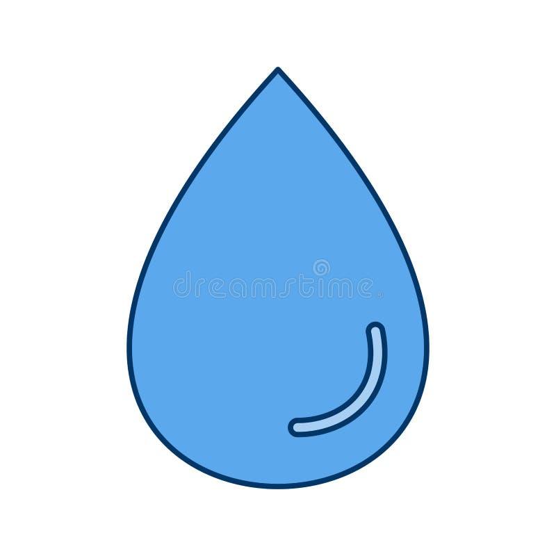 Regen-Tropfen-Vektor-Ikone vektor abbildung