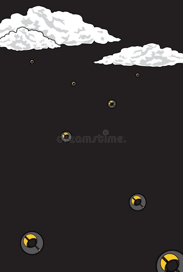Regen-UFO stockfotos