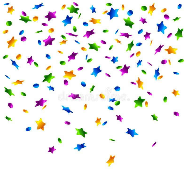 Regen van confettien. Vector. vector illustratie