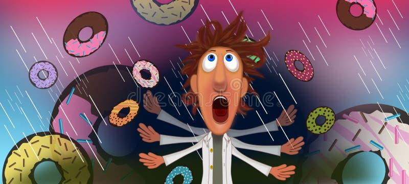 Regen van doughnuts