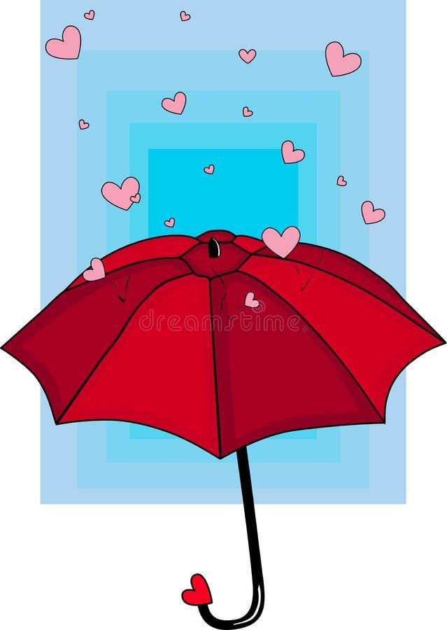 Regen van Harten stock illustratie