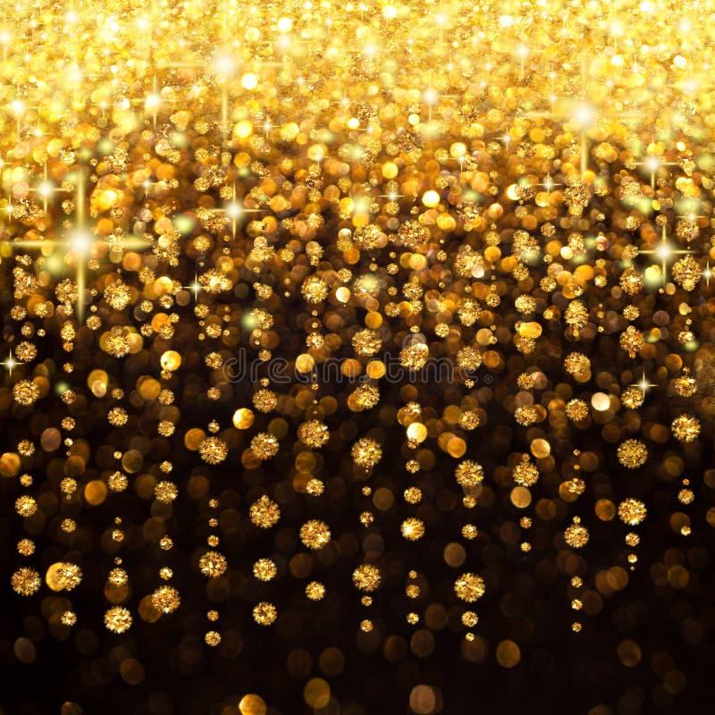 Regen van Kerstmis van Lichten of de Achtergrond van de Partij stock foto's