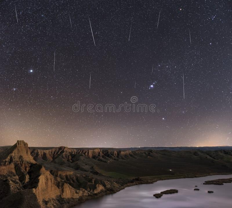 Regen von Sternen lizenzfreie stockbilder