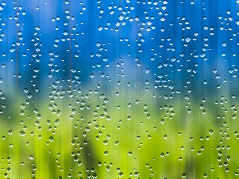 Regen während des Sonnenscheins stock abbildung