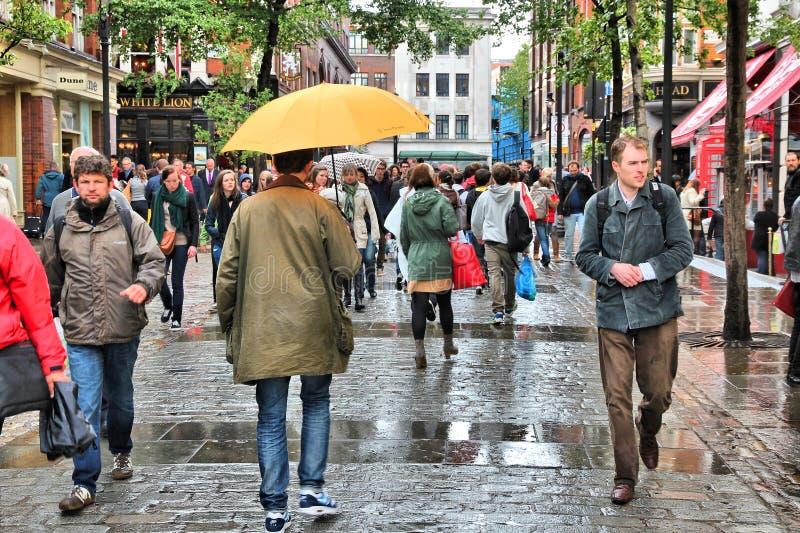 Regenachtig Londen royalty-vrije stock afbeeldingen