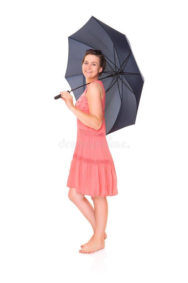 Regenachtig meisje stock foto
