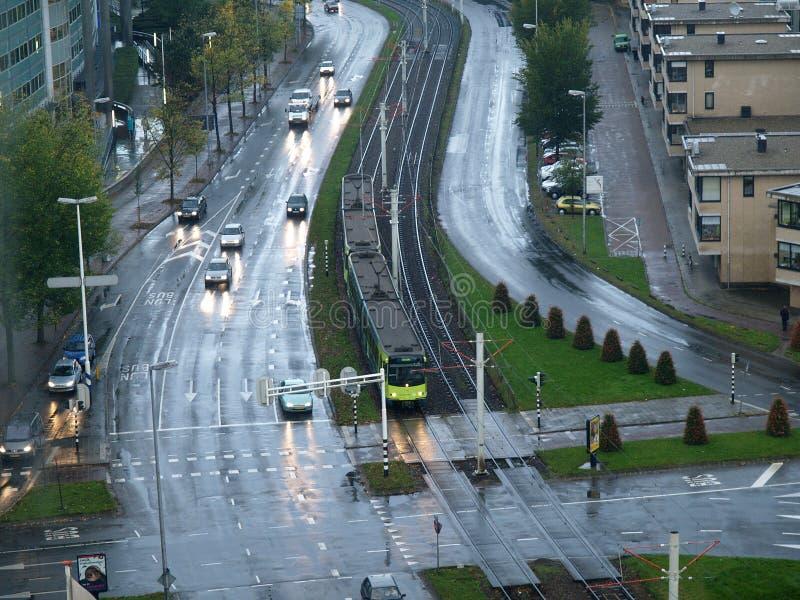 Regenachtige avond in Utrecht stock foto's