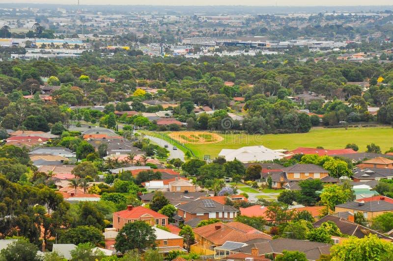 Regenachtige dag in het Park Wilson australië royalty-vrije stock fotografie
