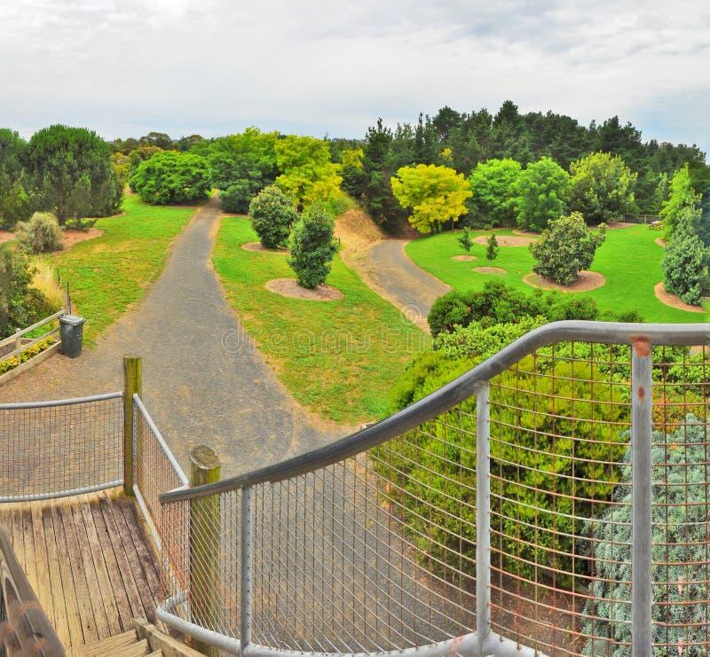 Regenachtige dag in het Park Wilson australië royalty-vrije stock afbeelding