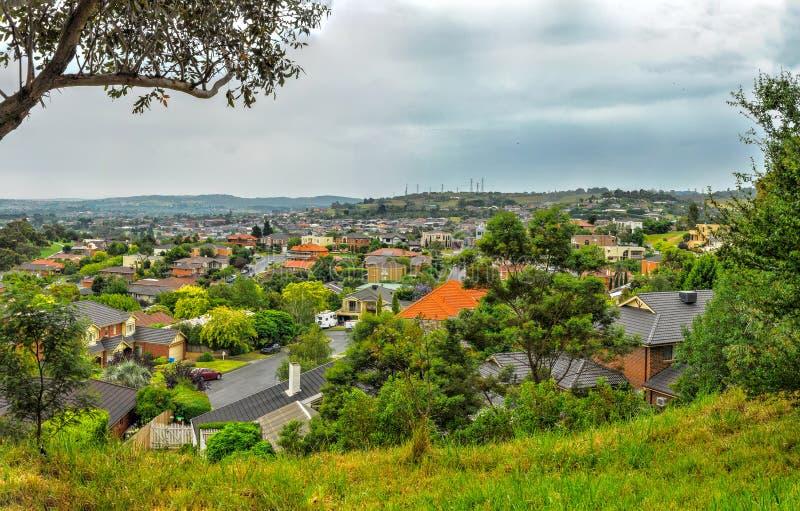 Regenachtige dag in het Park Wilson australië stock afbeelding