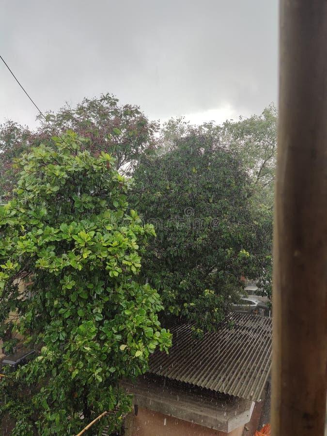 Regenachtige dag in India royalty-vrije stock afbeelding