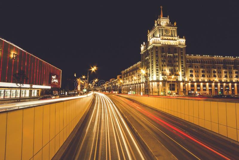 Regenachtige dag in Moskou royalty-vrije stock fotografie