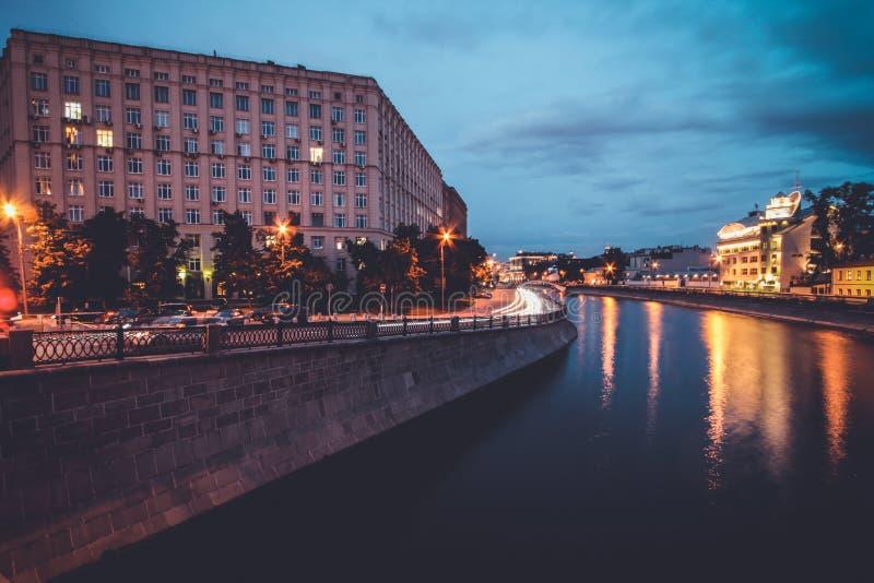 Regenachtige dag in Moskou stock fotografie
