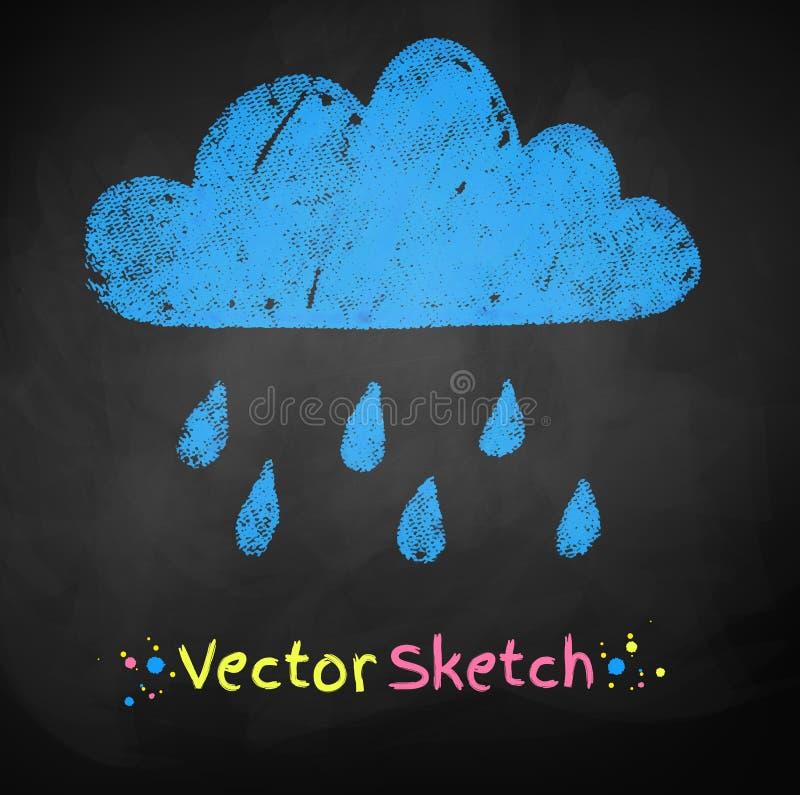 Regenachtige Wolk vector illustratie