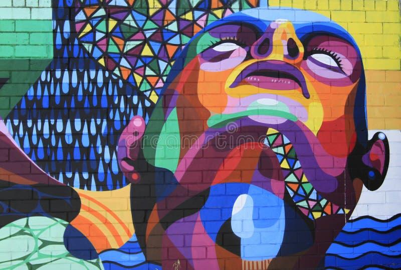 Regenbogen-abstrakte Graffiti stockfotos