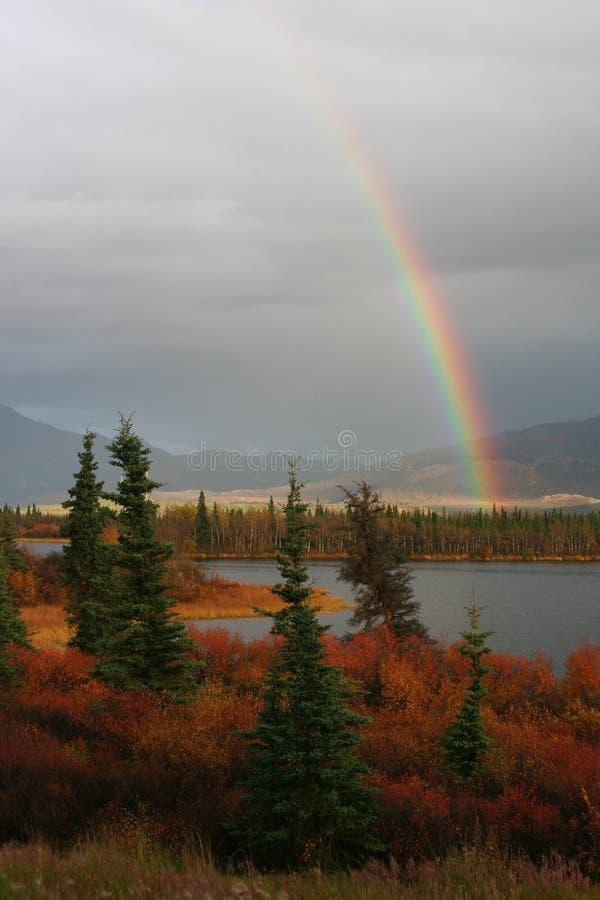 Regenbogen in Alaska lizenzfreie stockbilder