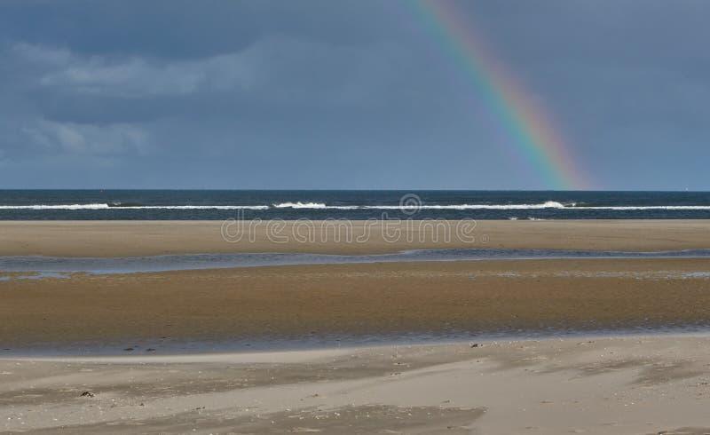 Regenbogen auf der wangerooge Insel in der Nordsee in Deutschland stockfoto