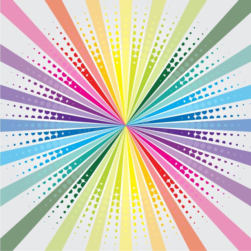 Regenbogen barst mit Halbtonbild lizenzfreie abbildung