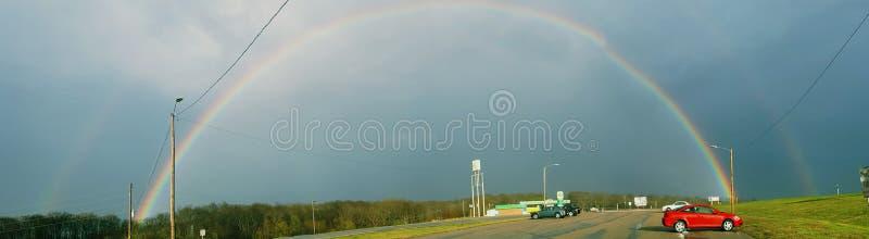 Regenbogen en eenhoorns royalty-vrije stock afbeelding
