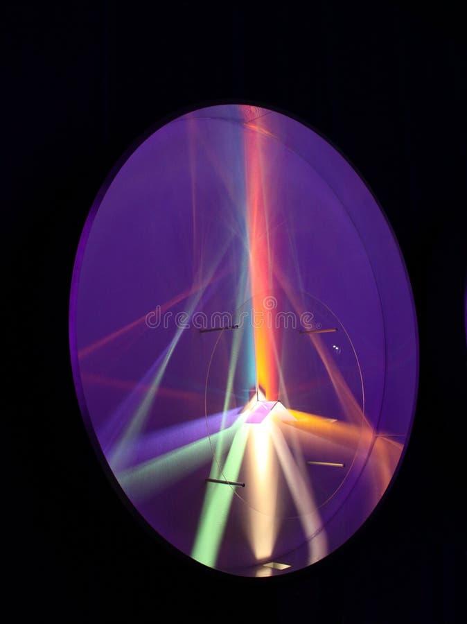 Regenbogen en prisma's stock fotografie