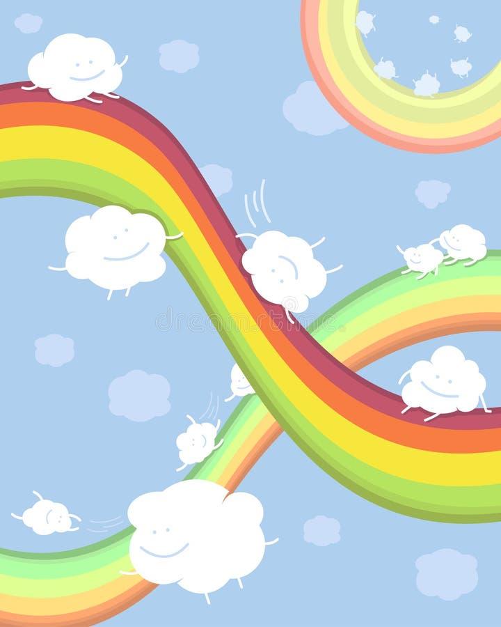 Regenbogen en wolken royalty-vrije stock fotografie