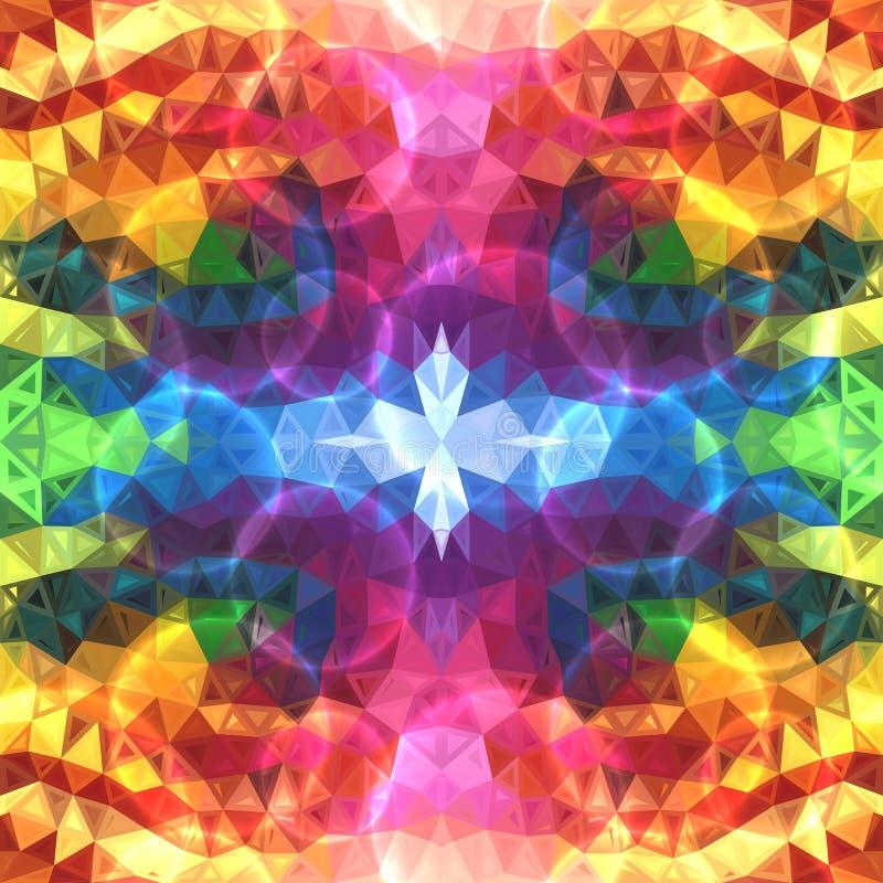 Regenbogen färbt abstrakte glänzende Dreiecke stock abbildung