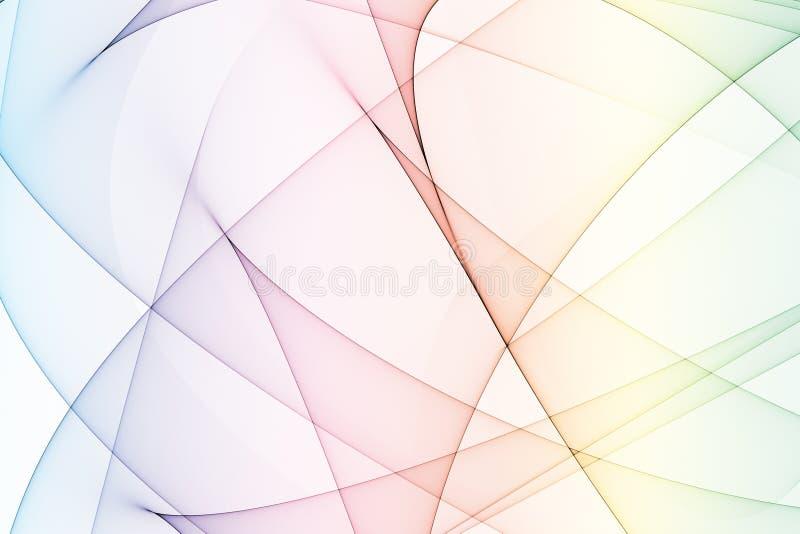 Regenbogen färbt Energie-Lichtbogen lizenzfreie abbildung