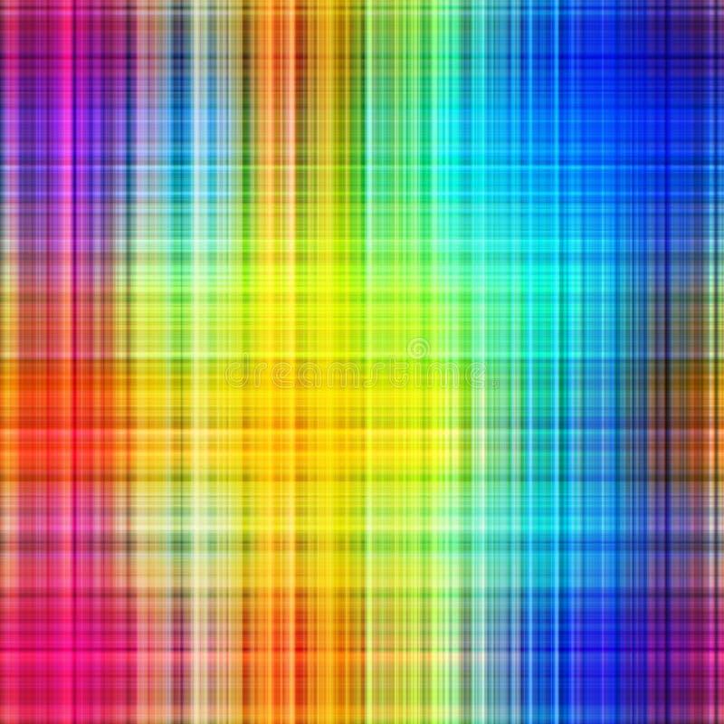 Regenbogen färbt Gitterfeld. vektor abbildung