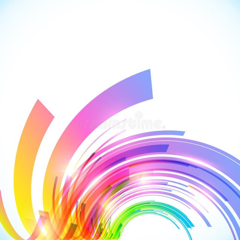 Regenbogen färbt glänzenden Hintergrund des abstrakten Vektors stock abbildung