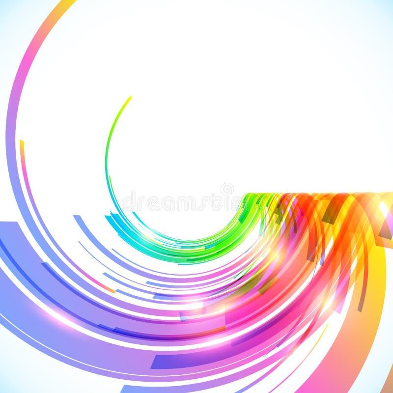 Regenbogen färbt glänzenden Hintergrund des abstrakten Vektors vektor abbildung