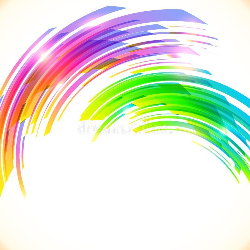 Regenbogen färbt glänzenden Hintergrund des abstrakten Vektors lizenzfreie abbildung