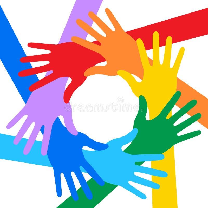 Regenbogen färbt Handikone lizenzfreie abbildung