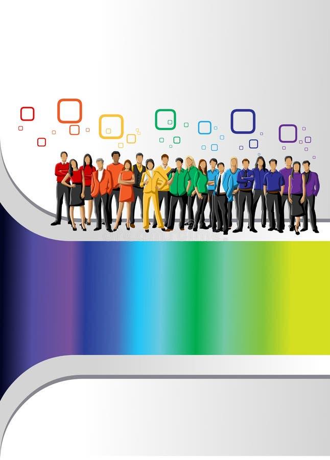 Regenbogen färbt Leute lizenzfreie abbildung