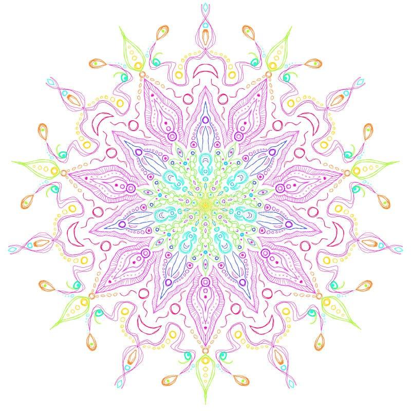 Regenbogen Faerie-Stern-Mandala stockbild