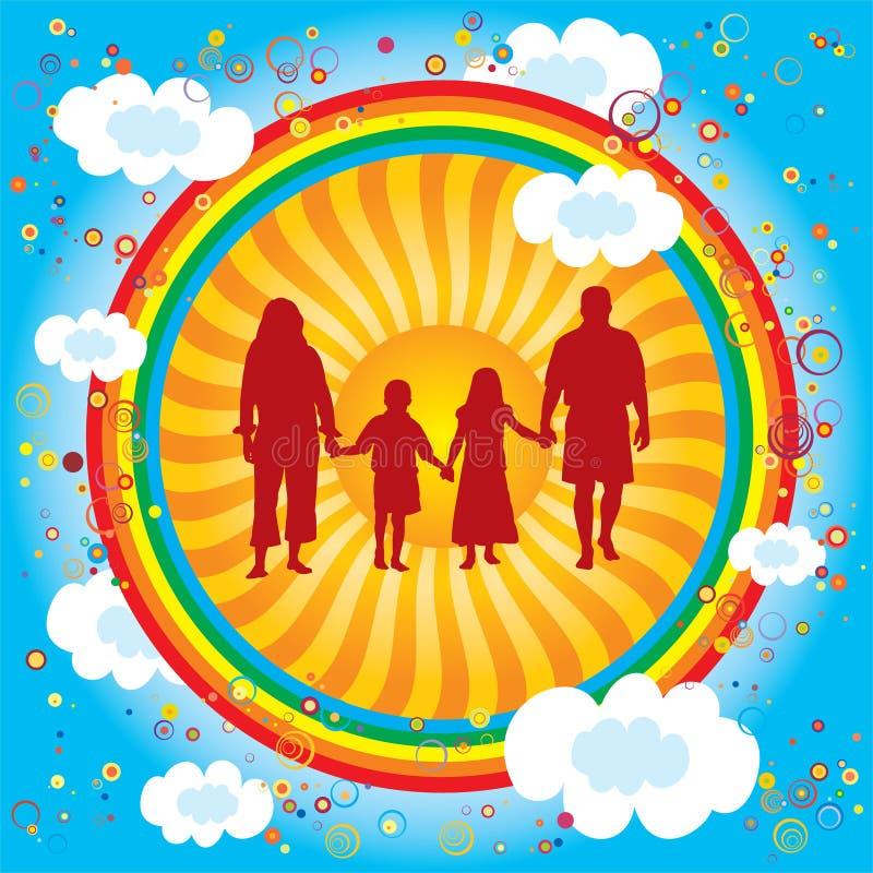 Regenbogen-Familie vektor abbildung